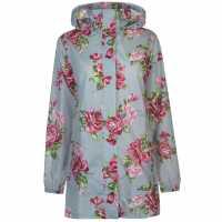 Gelert Дамска Парка Packaway Parka Ladies Grey Floral Дамски якета и палта