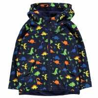 Gelert Яке С Качулка Softshell Hooded Jacket Childrens Navy Dinosuar Детски якета и палта