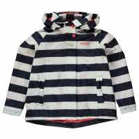 Regatta Яке Момичета Esmeralda Jacket Junior Girls Navy Stripe Дамски непромокаеми якета