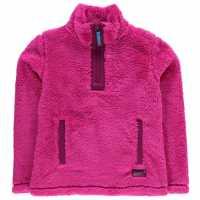 Gelert Yukon Micro Fleece Top Juniors Pink Детски полар
