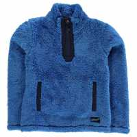 Gelert Yukon Micro Fleece Top Juniors Blue Детски полар