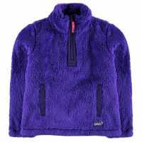 Gelert Yukon Micro Fleece Top Juniors Purple Детски полар