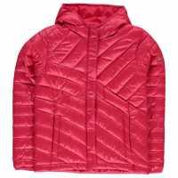 Columbia Яке Момичета Powder Jacket Junior Girls Pink Детски якета и палта