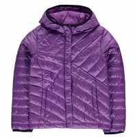 Columbia Яке Момичета Powder Jacket Junior Girls Purple Детски якета и палта