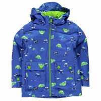Gelert Непромокаемо Детско Яке Coast Waterproof Jacket Infants Blue Cars Детски якета и палта