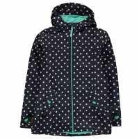 Gelert Непромокаемо Яке Детско Coast Waterproof Jacket Junior Navy Polka Dot Детски якета и палта