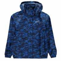 Gelert Непромокаемо Яке Packaway Junior Waterproof Jacket Blue Camo Детски якета и палта