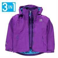Karrimor Детско Яке 3В1 3In1 Jacket Kids Purple Детски якета и палта