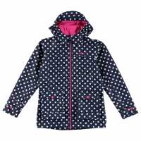 Gelert Детско Яке Coast Jacket Juniors Navy Pokka Dot Детски якета и палта
