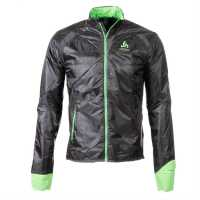 Odlo Непромокаемо Яке Jacket Primalof Sn43 Grey/Green Мъжки якета и палта