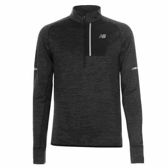 cf9b911b187 New Balance Мъжко Горнище Полу-Цип Heat Half Zip Top Mens Charcoal Мъжки  тениски и