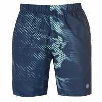 Asics Мъжки Шорти 7Inch Print Shorts Mens Dark Blue Мъжки къси панталони