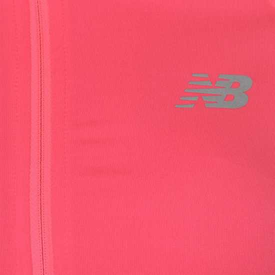 New Balance Дамска Тениска Impact Half Zip T Shirt Ladies Pink Дамски тениски и фланелки