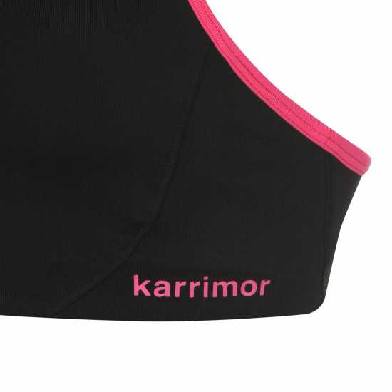 Karrimor Дамски Спортен Сутиен Tempo Sports Bra Ladies Black/Pink Спортни сутиени
