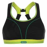 Shock Absorber Дамски Спортен Сутиен Running Sports Bra Ladies Black/Green Спортни сутиени