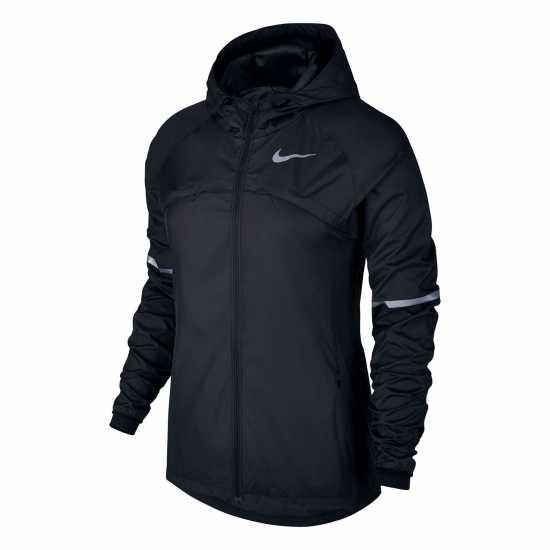 Nike Дамско Яке За Бягане Shield Running Jacket Ladies Black Дамски якета и  палта a685c6b8bc4f4