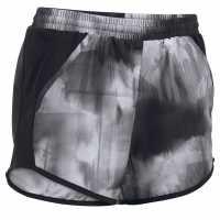Under Armour Дамски Шорти Fly By Printed Shorts Ladies Black Дамски клинове за фитнес