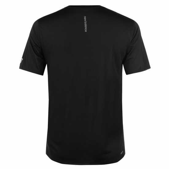 New Balance Мъжка Тениска Accelerate T Shirt Mens Black Shattered Мъжки тениски и фланелки