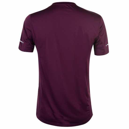 New Balance Мъжка Тениска За Бягане Graphic Running T Shirt Mens Dark Mulberry Мъжки тениски и фланелки