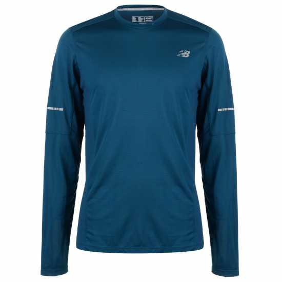 New Balance Мъжка Тениска Run Tech T Shirt Mens Castaway Мъжки тениски и фланелки
