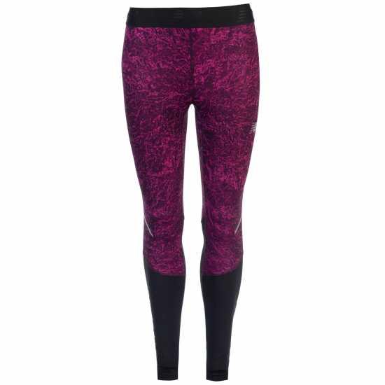 New Balance Дамскки Спортен Клин На Принтове Accelerate Printed Tights Ladies Tempest Crystal Дамски клинове за фитнес