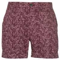 Pierre Cardin Мъжки Шорти Aztec Shorts Mens Burgundy Мъжки панталони чино