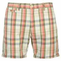 Pierre Cardin Карирани Мъжки Шорти Yd Check Shorts Mens Red/Stone Check Мъжки панталони чино