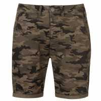 Pierre Cardin Мъжки Къси Панталони Aop Chino Shorts Mens Khaki Camo Мъжки панталони чино