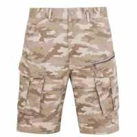 Firetrap Мъжки Шорти Btk Shorts Mens Sand Camo Мъжко облекло за едри хора
