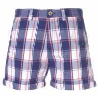 Soulcal Карирани Мъжки Шорти Check Shorts Mens Blue/Pink Мъжки къси панталони
