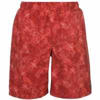 Hot Tuna Мъжки Бермуди Aloha Board Shorts Mens Red Мъжки къси панталони