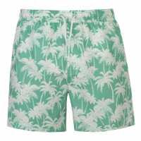 Hot Tuna Мъжки Шорти Palm Print Shorts Mens Mint Grad Мъжки къси панталони