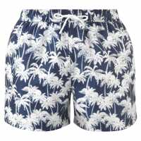 Hot Tuna Мъжки Шорти Palm Print Shorts Mens Med Blue Мъжки къси панталони