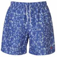 Hot Tuna Мъжки Шорти Printed Shorts Mens Blue/White Мъжко облекло за едри хора