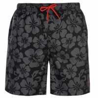 Hot Tuna Мъжки Плувни Шорти Aloha Swim Shorts Mens Black/Char Мъжки къси панталони