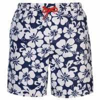 Hot Tuna Мъжки Плувни Шорти Aloha Swim Shorts Mens Navy/White Мъжки къси панталони