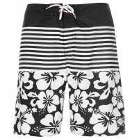 Hot Tuna Tuna Mens Dive Shorts Black/White Мъжки къси панталони