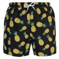 Hot Tuna Мъжки Бермуди Fun Board Shorts Mens AOP Pineapple Мъжки къси панталони