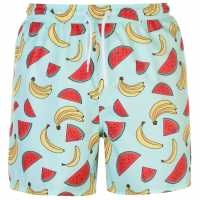 Hot Tuna Мъжки Бермуди Fun Board Shorts Mens AOP Mixed Fruit Мъжки къси панталони