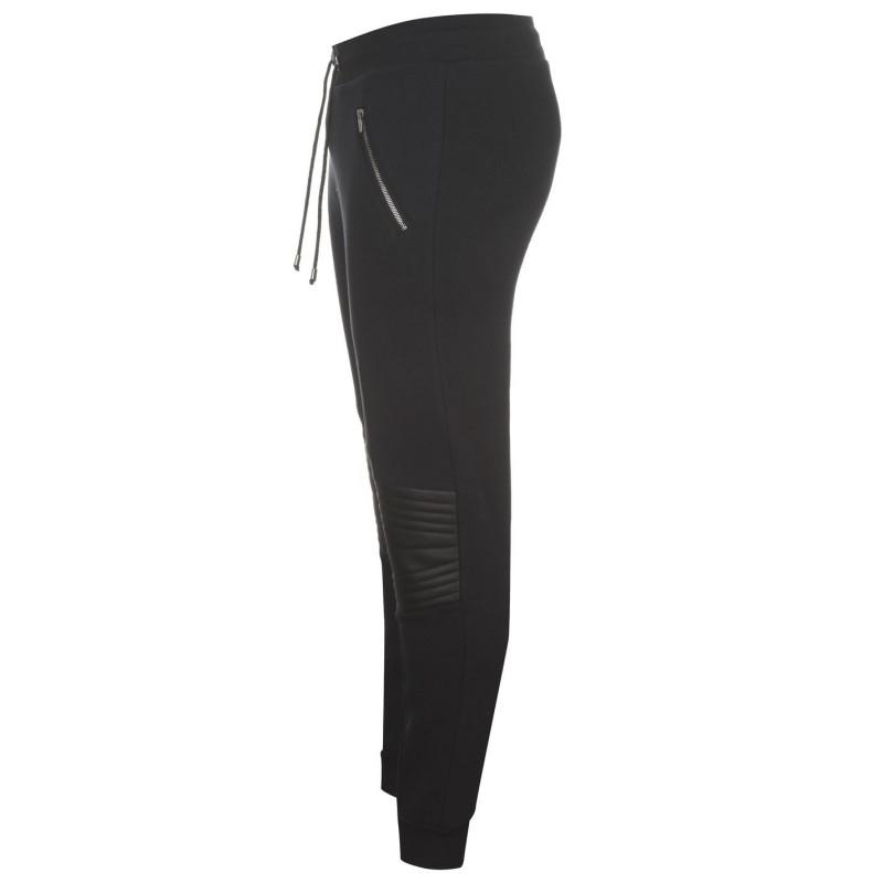 be37805d5fd Fabric Мъжко Спортно Долнище Panel Joggers Mens Black Мъжки меки спортни  долнища