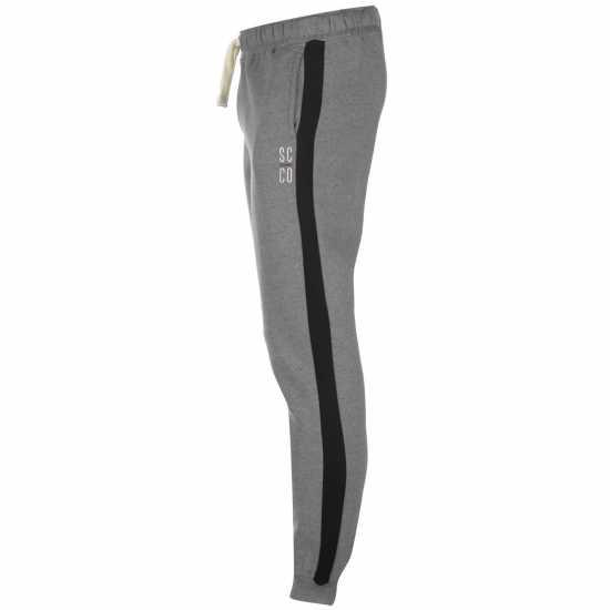 Soulcal Мъжко Долнище За Джогинг Block Colour Jogging Pants Mens Charcoal/Black Мъжки меки спортни долнища