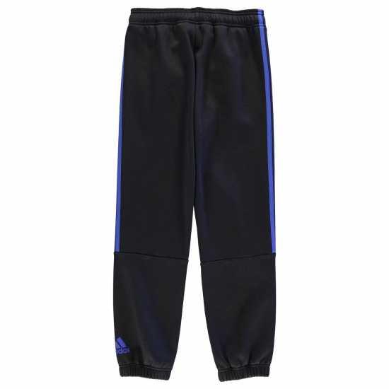 Adidas Спортно Долнище Момчета 3 Stripe Sweat Pants Junior Boys Black/Blue Детски полар