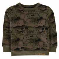 Firetrap Crew Sweatshirt Black Camo Детски горнища и пуловери