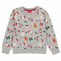 Star Christmas Crew Sweatshirt Juniors  Коледни пуловери