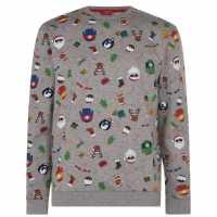 Star Мъжка Блуза Обло Деколте Christmas Crew Sweatshirt Mens Xmas Family AOP Коледни пуловери