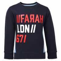 Farah Vintage Terry Crew Sweatshirt Navy Детски горнища и пуловери