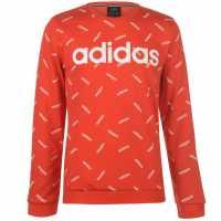 Adidas Aop Crew Sweatshirt Active Red Мъжки полар