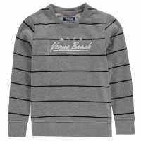 Jack And Jones Junior Striped Crew Sweat Light Grey Mel Детски горнища и пуловери