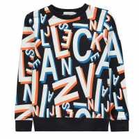 Calvin Klein Letter Aop Sweater  Детски горнища и пуловери