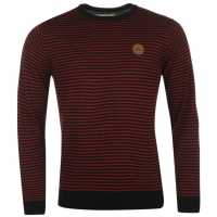 Airwalk Stripe Jumper Mens Burgundy Stripe Мъжки пуловери и жилетки